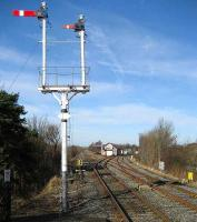 Looking north from Appleby station on 18 February towards the SB showing the recently renewed double junction.<br><br>[John McIntyre&nbsp;18/02/2007]