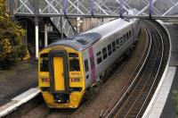 Silverlink 158782 on hire to First ScotRail calls at Burntisland on 21 Feb with the 14.12 Edinburgh - Markinch.<br><br>[Bill Roberton&nbsp;21/02/2007]
