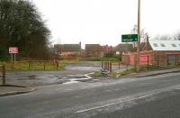 Entrance to the car park at the proposed Newtongrange station on the Borders Railway in February 2007 looking across the A7.<br><br>[John Furnevel&nbsp;07/02/2007]