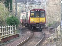 314211 just left Langside downhill for Glasgow Central on the Outer.<br><br>[Colin Harkins&nbsp;26/02/2007]