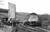 <I>Last Train</I> at Dufftown on 24 March 1991 behind 47617.<br><br>[Bill Roberton&nbsp;24/03/1991]