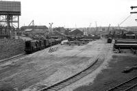 Waterloo in May 1975 following takeover of the site as a pipe transfer yard for the oil industry.<br><br>[John McIntyre&nbsp;/05/1975]