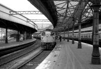 Class 26 with a train at Aberdeen platform 6 on 26 May 1973.<br><br>[John McIntyre&nbsp;26/05/1973]