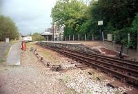 The platform at Bere Alston where the Gunnislake branch trains reverse. Left for Gunnislake and right for Plymouth. The now closed route to Okehampton continued through the station.<br><br>[Ewan Crawford&nbsp;//]