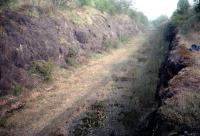 Looking north to Kilbarchan before the line was converted to a cycleway. Every sleeper indentation was perfectly preserved.<br><br>[Ewan Crawford&nbsp;//]