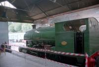 Gently simmering in the trainshed at Kirkby Stephen (East).<br><br>[Ewan Crawford&nbsp;//]