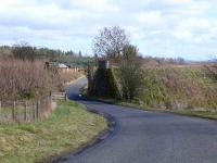 Remains of bridge on former Bankfoot Branch.<br><br>[Brian Forbes&nbsp;11/03/2007]