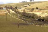 Waverley route south of Heriot, March 2007. <br><br>[Bill Roberton&nbsp;/03/2007]