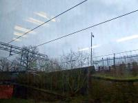 Passing the location of Ibrox Station. Taken from a Glasgow bound train, this shows where the exit was from Platform 2 <br><br>[Graham Morgan&nbsp;10/03/2007]