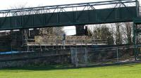 Work proceeding on �3m.renewal of C(S)listed Lammerlaws road bridge to Burntisland beach and swimming pool. Temporary footbridge near camera.<br><br>[Brian Forbes&nbsp;15/05/2007]
