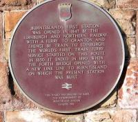 Historical plaque on Burntisland down waiting room wall.<br><br>[Brian Forbes&nbsp;15/05/2007]