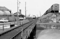 View across the turntable pit at Ferryhill shed in 1974.<br><br>[Bill Roberton&nbsp;//1974]