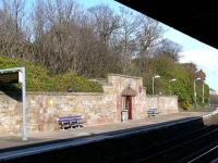 Tight curve on down platform at Burntisland.<br><br>[Brian Forbes&nbsp;15/05/2007]