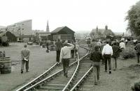 Railtour invasion at Forfar Playfield in 1974. These days they probably would not let you off the train!<br><br>[Bill Roberton&nbsp;//1974]