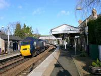 Northbound afternoon 125 Kings Cross / Aberdeen service passes through Aberdour.<br><br>[Brian Forbes&nbsp;19/03/2007]
