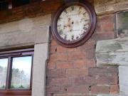 An 1857 Brysons clock face on booking office wall. It was double sided and had hands.<br><br>[Brian Forbes&nbsp;20/03/2007]