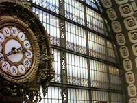 <B>StationClock</B> Clocks don't get any better than this station clock. Interior view of d'Orsay Museum, Paris, formerly a railway station serving south-west France.<br><br>[Alistair MacKenzie&nbsp;12/11/2002]