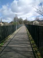 Forth and Clyde Junction Railway, former railway bridge over River Leven.<br><br>[Alistair MacKenzie&nbsp;20/03/2007]