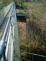 <B>Forth&Clyde </B> Junction Railway, viaduct over River Endrick now carrying footpath and Central Scotland Water Scheme pipe, looking toward Croftamie.<br><br>[Alistair MacKenzie&nbsp;22/03/2007]