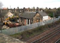 Remains of the old Joppa station, standing on the north side of the ECML on 21 March 2007.<br><br>[John Furnevel&nbsp;/03/2007]