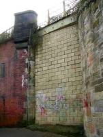 North side bricked up entrance to the pedestrian subway under the ECML providing access to the former island platform at Portobello. March 2007. [See image 14511]<br><br>[John Furnevel&nbsp;21/03/2007]
