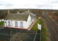 The converted former Millerhill station in March 2007. In the background the Roslin branch (latterly serving Bilston Glen colliery) comes in from the right to join the Waverley route.<br><br>[John Furnevel&nbsp;09/03/2007]