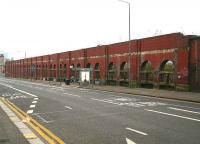 View east along Duke Street in March 2007 showing the north wall of the former High Street goods yard.<br><br>[John Furnevel&nbsp;18/03/2007]