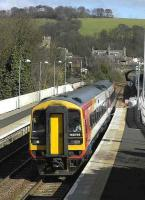 The much travelled SWT 158786 on a Markinch - Waverley service arrives at Aberdour on 23 March. <br><br>[Bill Roberton&nbsp;23/03/2007]