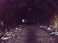 Inside the 310 yard tunnel.. notice the tyre marks. Not sign of rail!!<br><br>[Colin Harkins&nbsp;29/03/2007]