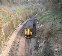 Glasgow Central - Waverley service diverted around the <I>sub</I> on 31 March passing through Craiglockhart cutting.<br><br>[John Furnevel&nbsp;/03/2007]