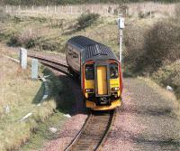 158508 rounds the curve from Brunstane to Niddrie West Junction on 31 March 2007 on a diverted Waverley - Glasgow Central via Shotts service. <br><br>[John Furnevel&nbsp;31/03/2007]