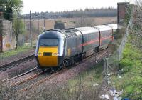 A GNER HST diverted around the <I>sub</I> due to engineering works on 31 March 2007. The train is passing the site of Niddrie North Junction on its way to Niddrie West.<br><br>[John Furnevel&nbsp;31/03/2007]