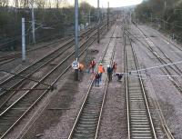 View south from Larkfield Junction during Sunday morning engineering works occupation on 1 April 2007.<br><br>[John Furnevel&nbsp;01/04/2007]