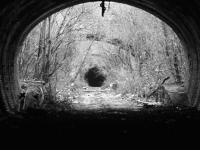 The view from Gallowgate Tunnel toward the Station in Black and White.<br><br>[Colin Harkins&nbsp;29/03/2007]