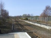 Forres Station, looking west towards Nairn, with the disused station platform also in shot.<br><br>[Graham Morgan&nbsp;31/03/2007]
