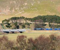 Northbound Tesco containers about to cross the Clyde at Crawford on 5 April 2007.<br><br>[John Furnevel&nbsp;05/04/2007]