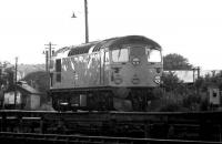 26033 comes off shed at Ferryhill in May 1975 and heads for Aberdeen station.<br><br>[John McIntyre&nbsp;/05/1975]