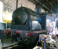 CR 0-4-4T no 419 lies bereft of chimney in the loco shed at Boness on 7 April 2007.<br><br>[Brian Forbes&nbsp;07/04/2007]