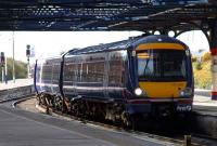 First ScotRail 170 pulls into platform 3 at Dundee.<br><br>[Adrian Coward&nbsp;08/04/2007]