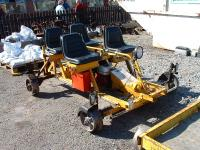 Motorised permanent way workers trolley. It also has two sockets supplying 110V for power tools etc.<br><br>[John Gray&nbsp;12/04/2007]