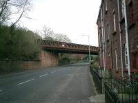 Caledonian Railway Lanarkshire and Dumbartonshire line bridge over Dumbarton Road, Bowling.<br><br>[Alistair MacKenzie&nbsp;13/04/2007]