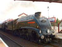 <I>The Great Britain</I> railtour arrives at Aviemore.<br><br>[John Gray&nbsp;14/04/2007]
