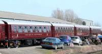 State cars of <i>The Royal Scotsman</i> stabled at Boness before the touring season starts. Could be that this pic. will enable me to travel free?<br><br>[Brian Forbes&nbsp;/04/2007]