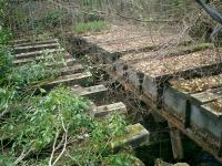 West Highland Line, remains of bridge on Faslane siding.<br><br>[Alistair MacKenzie&nbsp;17/04/2007]