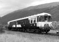 The <I>Mexican Bean</I> during its spell on the Oban - Crianlarich shuttle, seen at Tyndrum Lower.<br><br>[Bill Roberton&nbsp;//]