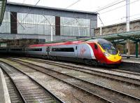 Glasgow Central - London Euston Pendolino service at Carlisle on 18 April.<br><br>[John Furnevel&nbsp;18/04/2007]