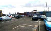 Northbound train on Camperdown level crossing, Dundee in March 2007.<br><br>[John Furnevel&nbsp;06/03/2007]