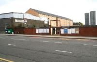 Entrance to Bellgrove Station in April 2007. View north east across Bellgrove Street.<br><br>[John Furnevel&nbsp;08/04/2007]