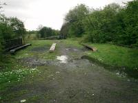 Caledonian Railway Lanarkshire and Dumbartonshire line, bridge over stream at Dalmuir.<br><br>[Alistair MacKenzie&nbsp;25/04/2007]