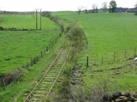 View from Westfield towards Ballingray. A buffer stop in grass indicates a headshunt.<br><br>[Brian Forbes&nbsp;16/04/2007]